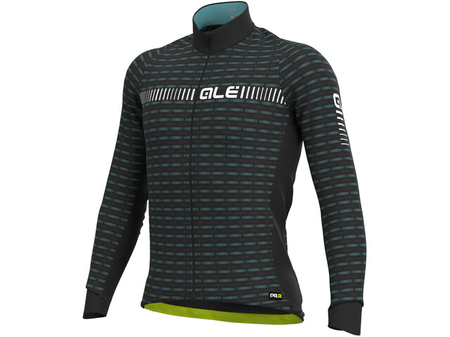 Alé Cycling Graphics PRR Green Road Winter Maillot À Manches Longues Homme, black/white